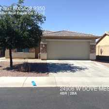 Rental info for 24906 W DOVE MESA DR