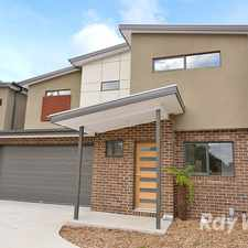 Rental info for 3 bedroom, 2 bathroom townhouse with a double garage in the Melbourne area
