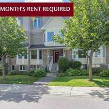 Rental info for Hathaway Drive in the Gloucester-south Nepean area