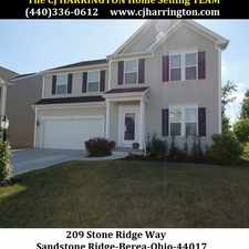 Rental info for Ohio Real Estate-209 Stone Ridge Way)Berea, Ohio 44017)(440)336-0612 or WWW.CJHARRINGTON.COM