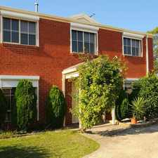 Rental info for PICTURE PERFECT TOWN HOUSE in the Melbourne area
