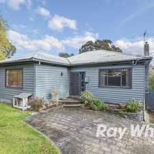 Rental info for Spacious Weatherboard in the Montmorency area