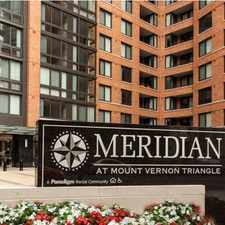 Rental info for Meridian at Mt. Vernon Triangle in the Downtown-Penn Quarter-Chinatown area