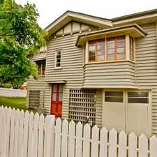 Rental info for THIS BEAUTIFUL QUEENSLANDER OFFERS AN ABUNDANCE OF CHARM & CHARACTER in the Brisbane area