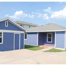 Rental info for House for rent in Manor. Washer/Dryer Hookups!
