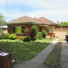 Rental info for FULL BRICK 3 BEDROOM HOME in the Kingsgrove area