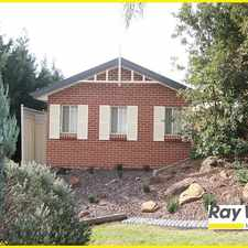 Rental info for NEAR NEW VILLA - LOCATED ON PRESTIGE ESTATE OF GLEN ALPINE in the Rosemeadow area