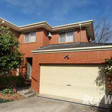 Rental info for An immaculate 2 bedroom, 2 storey townhouse in the Boronia area