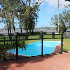 Rental info for WATERFRONT RESERVE FAMILY HOME in the Newcastle area
