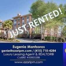 Rental info for Azari PM - *** JUST RENTED *** View 2 BR/2 BA Condo w/2 Pkg & Storage at Candlestick Point in the Forest Hill area