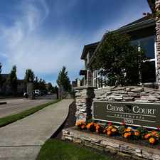 Rental info for Cedar Court in the South Tacoma area