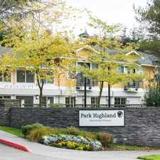 Rental info for Park Highland in the West Bellevue area