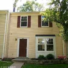 Rental info for 4 Bedroom 1&1/2 Bath Townhome - Germantown, MD in the Germantown area
