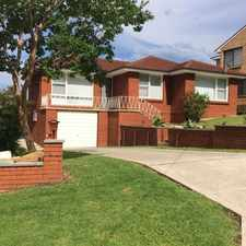 Rental info for Beautiful 4 Bedroom Family Home close to amenties in the Wollongong area