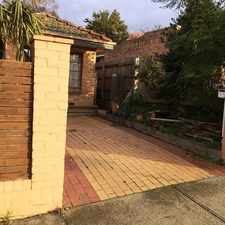 Rental info for Partly furnished and only a minutes walk to Mitcham station in the Mitcham area