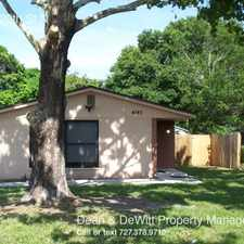 Rental info for 4345 20th St N in the St. Petersburg area