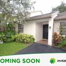 Rental info for The delightful home in Deerfield Beach, FL, has 3 bedrooms, 2 baths, carport, and offers 1679 square feet of living space and is located in the established community of Wildwood of Deer Creek. in the 33442 area