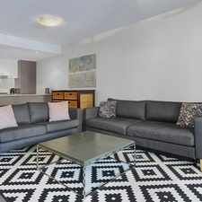 Rental info for FURNISHED TWO BED APARTMENT IN THE HEART OF SOUTH BANK PRECINCT in the Brisbane City area