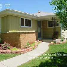 Rental info for 4656 N. 75th in the Columbus Park area