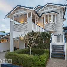 Rental info for STUNNING FAMILY HOME! in the Greenslopes area