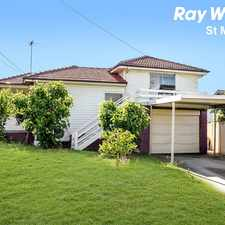 Rental info for LARGE FAMILY HOME WITH A TEENAGE RETREAT in the Blacktown area