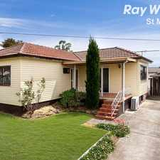 Rental info for 3bed family home with double garage and carport in South Blacktown