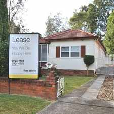 Rental info for 3 Bedroom Home Opposite Park in the Narwee area