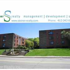 Rental info for Normandy Apartments 5530 Fifth Avenue - Apt 3B in the Pittsburgh area