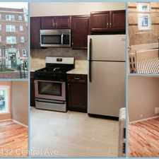 Rental info for 432 Central Avenue - 3A in the Newark area