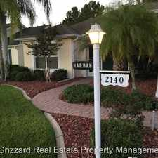 Rental info for 2140 Margarita Drive in the The Villages area