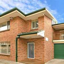 Rental info for MODERN 3 BEDROOM TOWNHOUSE in the Sydney area
