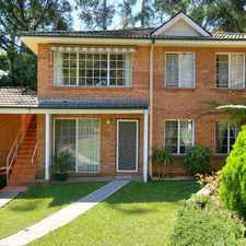 Rental info for 3 BEDROOM VILLA WITH UNDERCOVER PARKING AND LOCK-UP GARAGE in the Sydney area