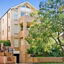 Rental info for DEPOSIT TAKEN - STYLISH NORTH FACING APARTMENT WITH A DOUBLE LOCK UP GARAGE!
