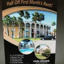 Rental info for Casa Grande Apartments in the Brownsville area