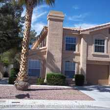 Rental info for 2842 MILL POINT DR in the Green Valley South area