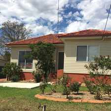 Rental info for Great Family Home in the Campbelltown area