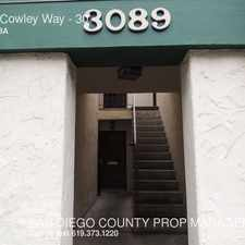 Rental info for 3089 Cowley Way in the San Diego area