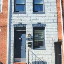 Rental info for 110 S. Durham Street in the Upper Fells Point area
