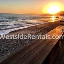 Rental info for Malibu Road Beachfront Ocean View