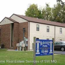Rental info for 1312-2 McDaniel in the Springfield area