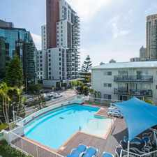Rental info for RAFFLES ROYALE - COSY ONE BEDROOM FULLY FURNISHED UNIT in the Surfers Paradise area