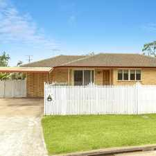 Rental info for FULLY FENCED 4 BED OPPOSITE PARK, SHORT STROLL TO SHOPS. in the Bunya area