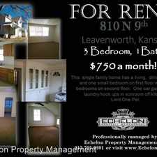 Rental info for 810 N 9th St in the Leavenworth area