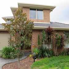 Rental info for MODERN AND LOW MAINTENANCE RESIDENCE in the Chadstone area