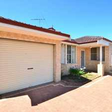 Rental info for SPACIOUS VILLA - BALCATTA BORDER! in the Perth area