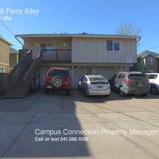 Rental info for 1588 Ferry Alley in the Eugene area
