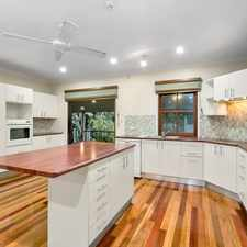 Rental info for Large Modern Family Home - Polished Timber Floors - Solar, Air Con & Pool in the Greenslopes area