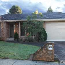 Rental info for Large Three Bedroom House with Exceptional Living Areas in the Wheelers Hill area
