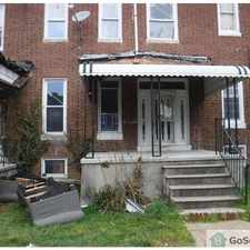 Rental info for Totally rehabbed 3 level GIGANTIC rowhome with new kitchen and bathrooms, new paint and carpet, washer & dryer. This unit is under renovation and will be ready to show 4/25. in the Park Circle area
