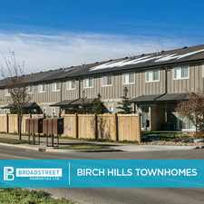 Rental info for Birch Hills Townhomes